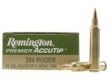Product detail of Remington Premier Varmint Ammunition 204 Ruger 32 Grain AccuTip-V Boat Tail Box of 20