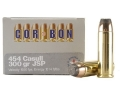 Product detail of Cor-Bon Hunter Ammunition 454 Casull 300 Grain Jacketed Soft Point Box of 20