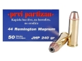 Product detail of Prvi Partizan Ammunition 44 Remington Magnum 240 Grain Jacketed Hollow Point Box of 50