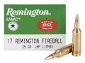 Product detail of Remington UMC Ammunition 17 Remington Fireball 25 Grain Jacketed Hollow Point Box of 50