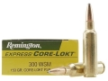 Product detail of Remington Express Ammunition 300 Winchester Short Magnum (WSM) 150 Grain Core-Lokt Pointed Soft Point Box of 20