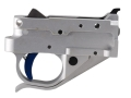 Product detail of Timney Trigger Guard Assembly Ruger 10/22 2-3/4 lb Aluminum Blue with Silver Lower