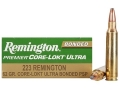 Product detail of Remington Premier Ammunition 223 Remington 62 Grain Core-Lokt Ultra Bonded Box of 20