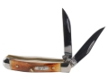 Product detail of Case Tiny Trapper Folding Knife Clip and Wharncliffe Stainless Steel Blade Brown Genuine Stag Handle