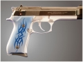 Product detail of Hogue Extreme Series Grip Beretta 92F, 92FS, 92SB, 96, M9 Tribal Aluminum Blue