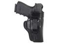 Product detail of Don Hume H715-M Open Top with Body Shield Inside the Waistband Holster Right Hand Glock 19, 23, 32 Leather Black