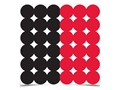 "Product detail of Birchwood Casey Dirty Bird Red and Black 1"" Target Pasters Package of 432"