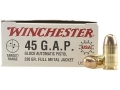 Product detail of Winchester USA Ammunition 45 GAP 230 Grain Full Metal Jacket