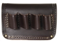 Product detail of Hunter Belt Slide Shotshell Ammunition Carrier 4-Round 12 Gauge Leather Antique Brown