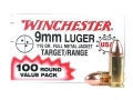 Product detail of Winchester USA Ammunition 9mm Luger 115 Grain Full Metal Jacket