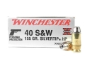 Product detail of Winchester Super-X Ammunition 40 S&W 155 Grain Silvertip Hollow Point