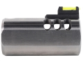 Product detail of Volquartsen V-Comp Compensator with Fiber Optic Front Sight Slab-Side Barrel Ruger Mark II, Mark III, 22/45 Silver