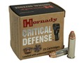 Product detail of Hornady Critical Defense Ammunition 38 Special +P 110 Grain Flex Tip ...