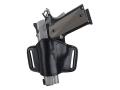 Product detail of Bianchi 105 Minimalist Holster Left Hand Beretta 92, 96, Glock 17, 19, 20, 21, 22, 23, 26, 27, 29, 30, 34, 35, 36, Sig Sauer P220, P225, P226, P228, P229, Taurus PT92, PT99, PT145 Lined Leather Black