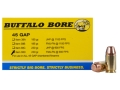 Product detail of Buffalo Bore Ammunition 45 GAP 230 Grain Full Metal Jacket Flat Nose Box of 20