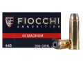 Product detail of Fiocchi Shooting Dynamics Ammunition 44 Remington Magnum 200 Grain Semi-Jacketed Hollow Point Box of 50