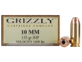 Product detail of Grizzly Ammunition 10mm Auto 155 Grain Jacketed Hollow Point Box of 20