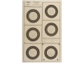 Product detail of National Target International Bench Rest Shooters Target IBS 100 YD Hunter Rifle Paper Package of 100