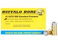 Product detail of Buffalo Bore Ammunition 45 Auto Rim (Not ACP) 255 Grain Hard Cast Flat Nose Box of 20