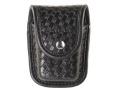 Product detail of Bianchi 7915 AccuMold Elite Pager or Glove Pouch Chrome Snap Basketweave Trilaminate Black