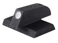 "Product detail of Kensight Front Sight 1911 Novak Cut Flat Base .115"" Width Steel Black Serrated Blade with White Dot"