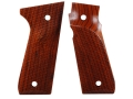 Product detail of Majestic Arms Target Grips Ruger Mark III 22/45 RP with Right Hand Thumbrest A-Grade Walnut