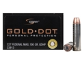 Product detail of Speer Gold Dot Ammunition 327 Federal Magnum 100 Grain Jacketed Hollo...