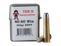 Product detail of Ten-X Cowboy Ammunition 40-60 WCF 260 Grain Lead Round Nose Flat Point Box of 20