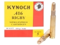 Product detail of Kynoch Ammunition 416 Rigby 410 Grain Woodleigh Weldcore Solid Box of 5