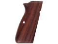 Product detail of Hogue Fancy Hardwood Grips Browning Hi-Power