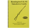 "Product detail of Radocy Takedown Guide ""Remington 8 & 81"""