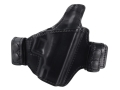Product detail of Bianchi Allusion Series 125 Consent Outside the Waistband Holster Right Hand Glock 26, 27, 33 Leather Black