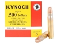 Product detail of Kynoch Ammunition 500 Jeffery 535 Grain Woodleigh Weldcore Solid Box of 5
