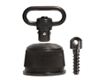"Product detail of GrovTec Push Button Magazine Cap with 1"" Quick Detach Sling Swivel Remington 870, 11-87, 1100 12 Gauge Steel Black"