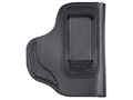 Product detail of DeSantis Insider Inside the Waistband Holster Right Hand S&W Bodyguard 380 Leather Black