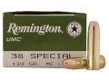Product detail of Remington UMC Ammunition 38 Special 130 Grain Full Metal Jacket
