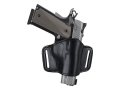 Product detail of Bianchi 105 Minimalist Holster Right Hand Beretta 3032 Tomcat, 84, 84F, 85, 85F Cheetah, Colt Pony, Sig Sauer P230, P232, Walther PP, PPK, PPK/S Suede Lined Leather Black