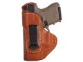 Product detail of Blackhawk Inside the Waistband Holster Left Hand Glock 17, 19, 22, 23, 31, 32, 36 Leather Brown