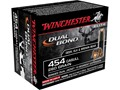 Product detail of Winchester Dual Bond Ammunition 454 Casull 260 Grain Jacketed Hollow Point