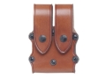Product detail of Hunter 5500 Pro-Hide Double Magazine Pouch with Flaps Double-Stack Magazine Leather Brown
