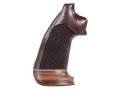 Product detail of Hogue Fancy Hardwood Grips with Accent Stripe Colt Python Oversize Checkered