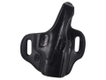 Product detail of El Paso Saddlery Strongside Select Thumb Break Outside the Waistband Holster Right Hand Glock 19, 23, 32 Leather Black