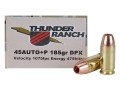 Product detail of Cor-Bon Thunder Ranch DPX Defensive Ammunition 45 ACP +P 185 Grain Barnes TAC-XP Hollow Point Lead-Free Box of 20