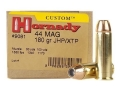 Product detail of Hornady Custom Ammunition 44 Remington Magnum 180 Grain XTP Jacketed Hollow Point Box of 20