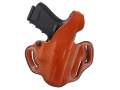 Product detail of DeSantis Thumb Break Scabbard Belt Holster Right Hand Glock 29, 30 Leather Tan