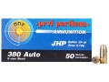 Product detail of Prvi Partizan Ammunition 380 ACP 94 Grain Jacketed Hollow Point Box of 50