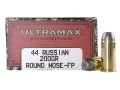 Product detail of Ultramax Cowboy Action Ammunition 44 Russian 200 Grain Lead Flat Nose Box of 50