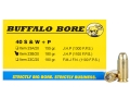 Product detail of Buffalo Bore Ammunition 40 S&W +P 180 Grain Jacketed Hollow Point Box of 20
