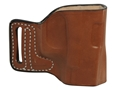 Product detail of DeSantis L-GAT Outside the Waistband Slide Holster Right Hand Glock 17, 19, 22, 23, 26, 27, 33, 34, 35 Leather Tan