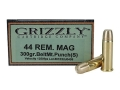Product detail of Grizzly Ammunition 44 Remington Magnum 300 Grain PUNCH Short Flat Nose Lead-Free Box of 20